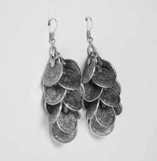 Wholesale coin earrings