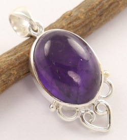 925 silver and amethyst pendant.