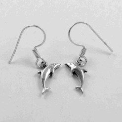 925 silver dolphin earrings