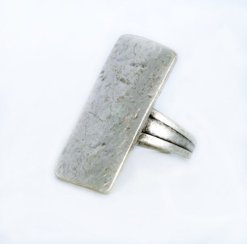 rectangle silver wholesale ring