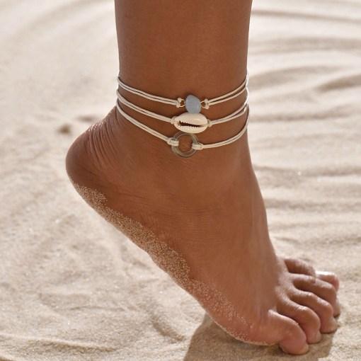 triple piece fashion anklet