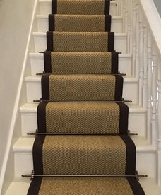 Stair Runner Carpet Fitting W Stair Rods Wholesale Carpets | Fixing Carpet On Stairs | Wood | Staircase | Runner | Stair Nosing | Install