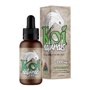 Koi Naturals Full Spectrum CBD Tincture Spearmint 2000mg Combo