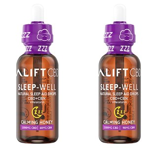 Lift CBD + CBN + Melatonin Sleep Well Calming Honey Both mg Bottle