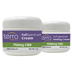 Terra Holistics Full Spectrum CBD Pain Cream 2 Jars