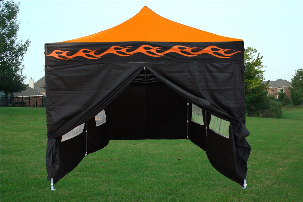 10 X 20 Orange Flame Pop Up Tent Canopy Gazebo
