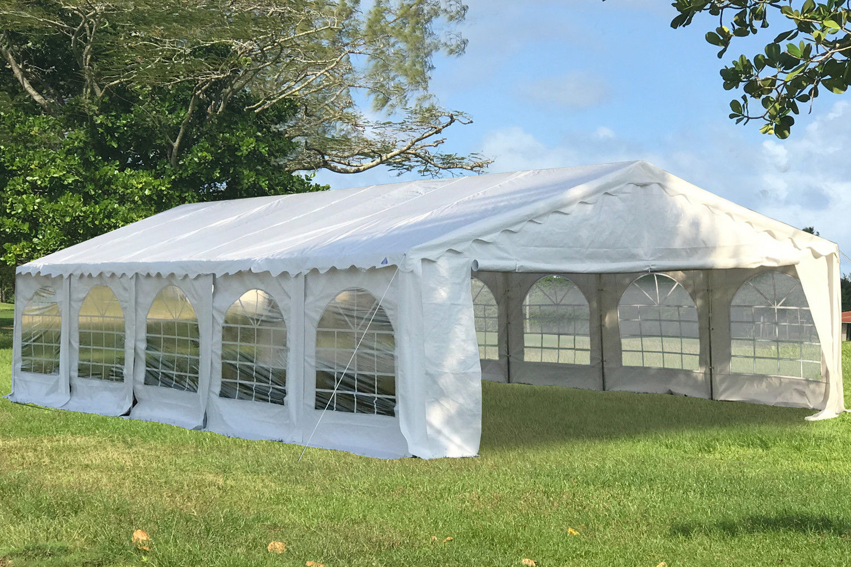 White Budget Pvc Tent Canopy Wedding Party Gazebo 4 Sizes
