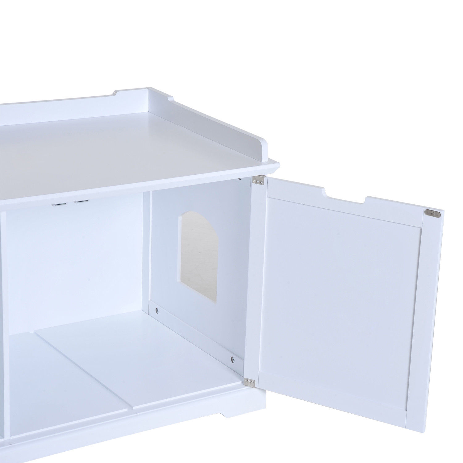 Hidden Kitty Litter Box Bench Enclosure Hall End Table Cat