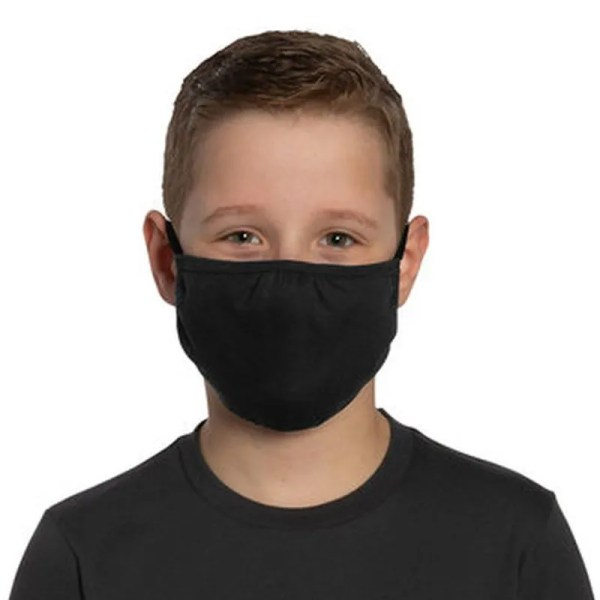 bulk youth cotton face mask front view