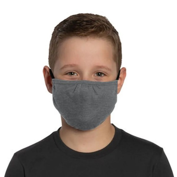 bulk kids face masks dark grey
