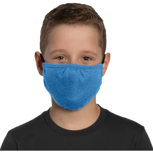 bulk youth face mask blue