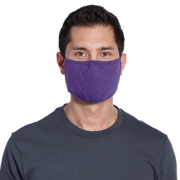 bulk wrap around face mask purple