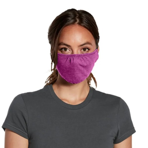 bulk wrap around face mask purple woman
