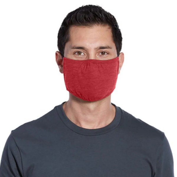wholesale cloth face masks red heather