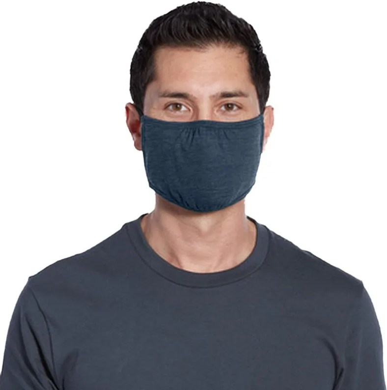 wholesale adult mask navy heather