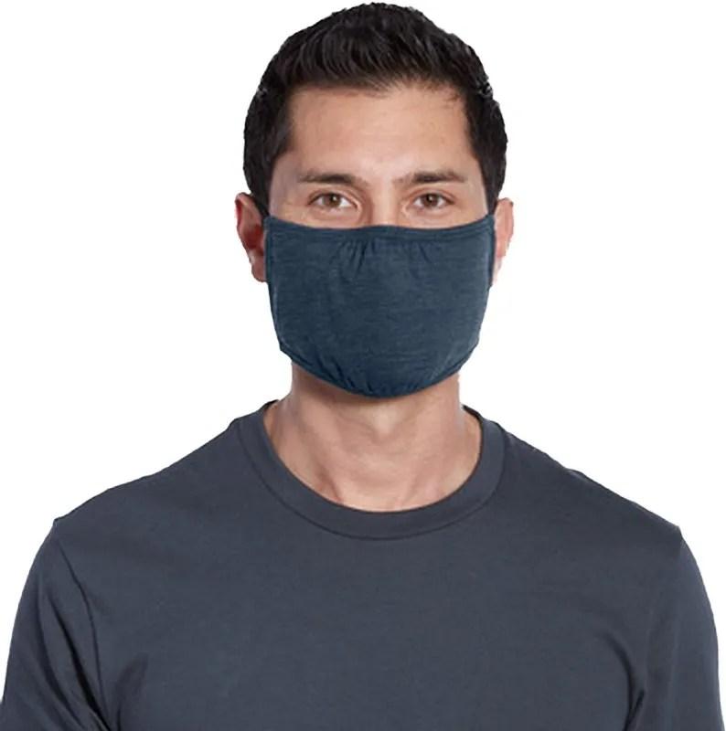wholesale adult mask navy heather