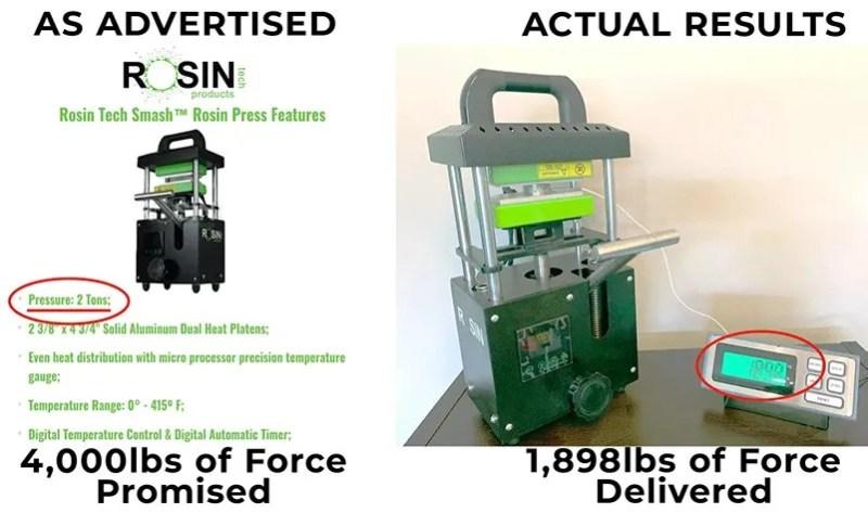 rosin press results rosin tech