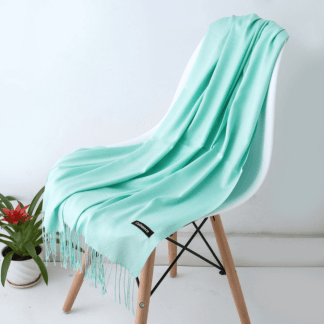 Lime Green Colour Cashmere Scarf