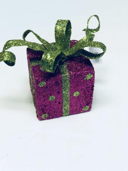 Fuchsia Gift Box Ornament