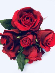red velvet rose bud bridal bouquet