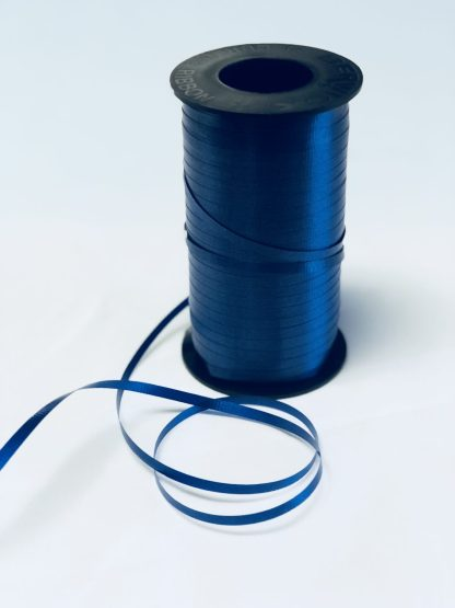 navy curling ribbon