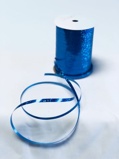 royal blue holographic curling ribbon