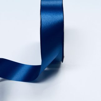 Navy Blue Waterproof Satin Ribbon Narrow