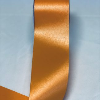 Tropical Orange Waterproof Satin Ribbon