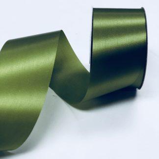 moss green satin acetate ribbon