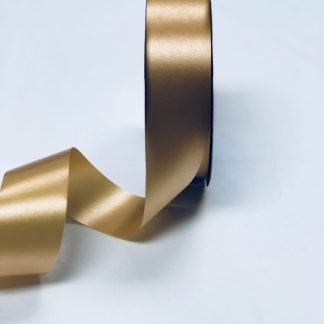 Gold Waterproof Satin Ribbon Narrow