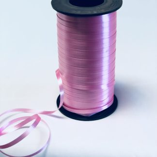 azalea pink curling ribbon