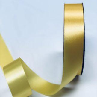 narrow yellow satin acetate ribbon