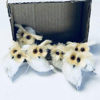mini sisal owl ornaments