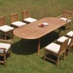 A Grade Teak 9pc Dining 118 Oval Table 8 Devon Chair Set Outdoor Patio 9780307280428 Ebay
