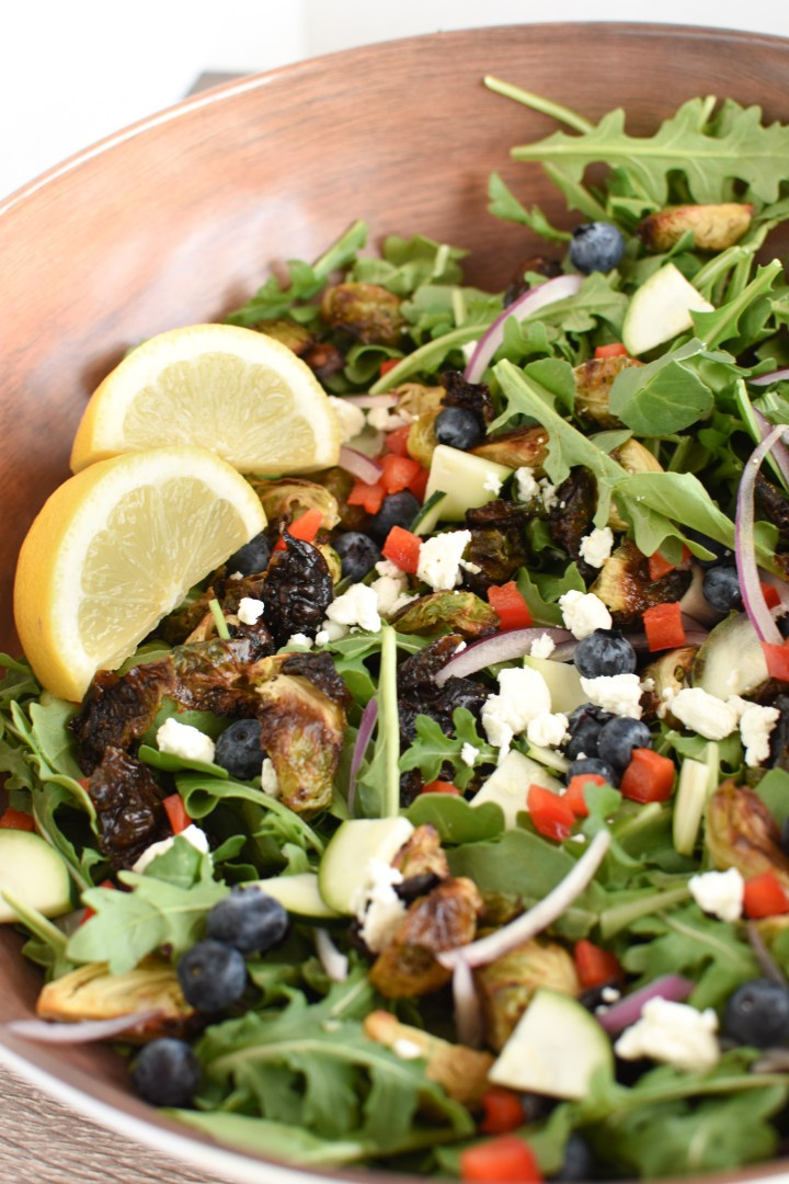 Spring Arugula Salad with Lemon and Blueberries