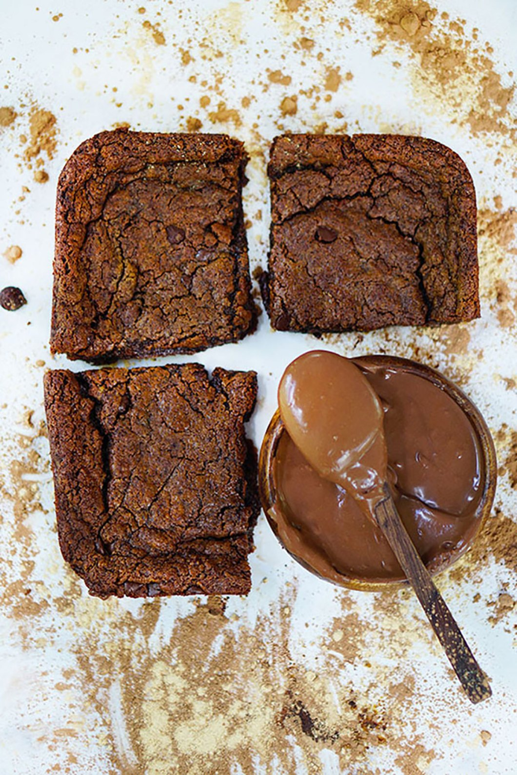 One Bowl Fudgy Paleo Vegan Brownies W Maca Cacao Wholesome Hedonista