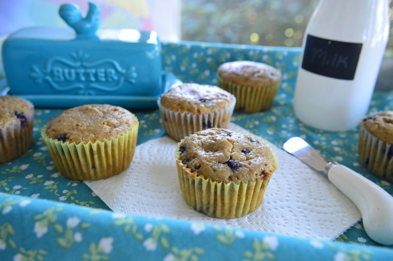 Oat Flour Blueberry Muffins (GF, Refined Sugar Free)