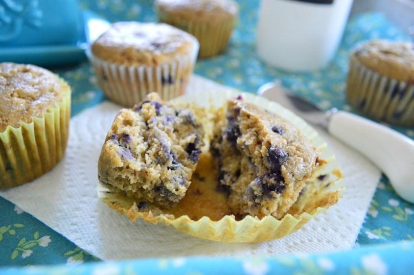 Oat Flour Blueberry Muffins (GF, Refined Sugar Free)