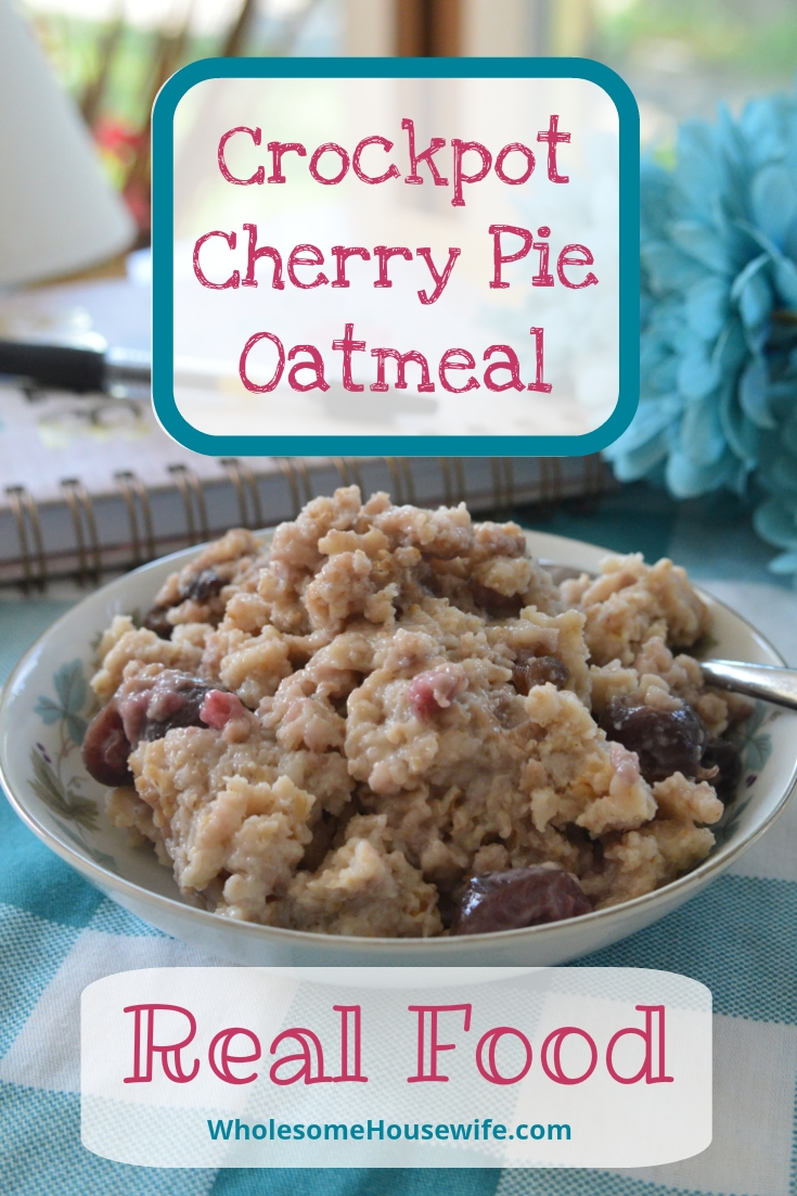 Crockpot Cherry Pie Oatmeal