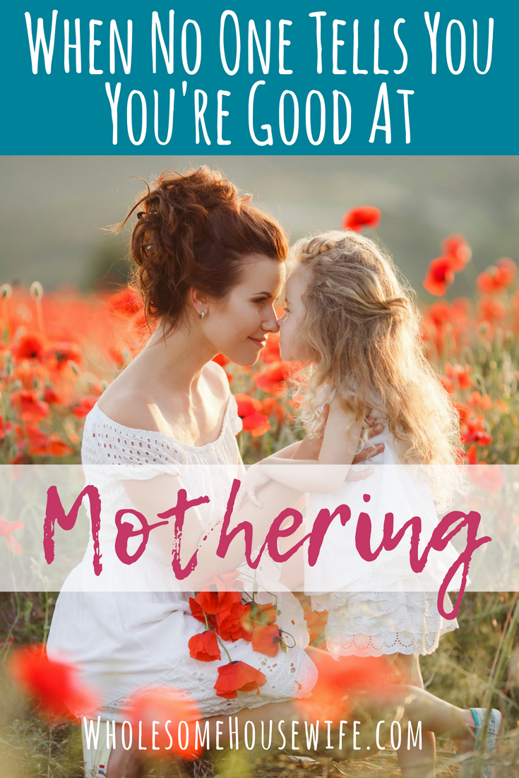 When No One Tells You You're Good At Mothering