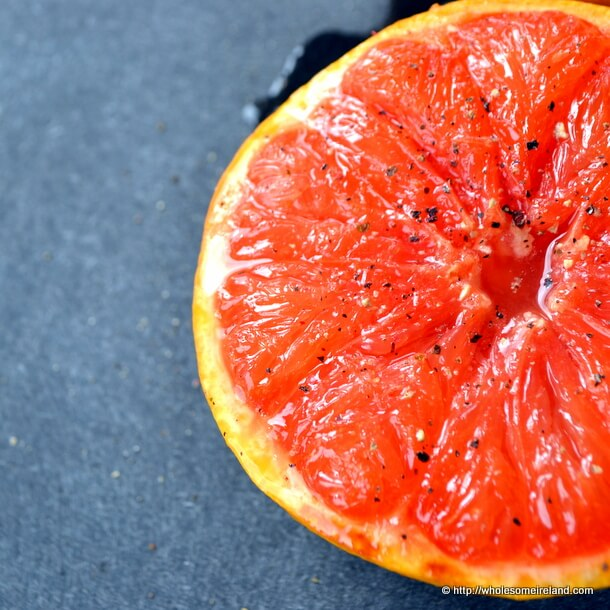 Grilled Grapefruit with Black Pepper from Wholesome Ireland - Irish Food & Parenting Blog