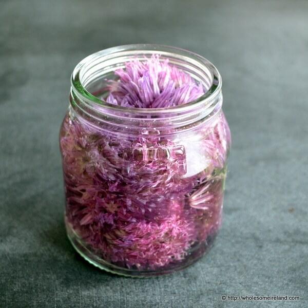 Chive Flower Vinegar - Wholesome Ireland - Irish Food 7 Parenting Blog