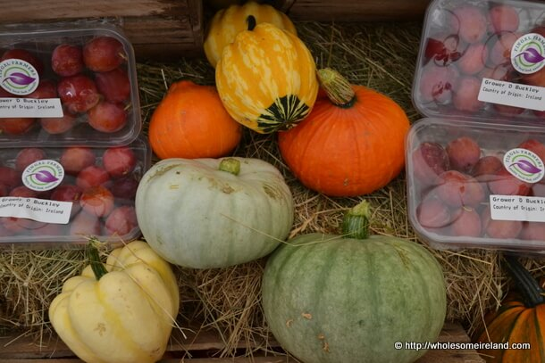 Local pumpkins and other produce.