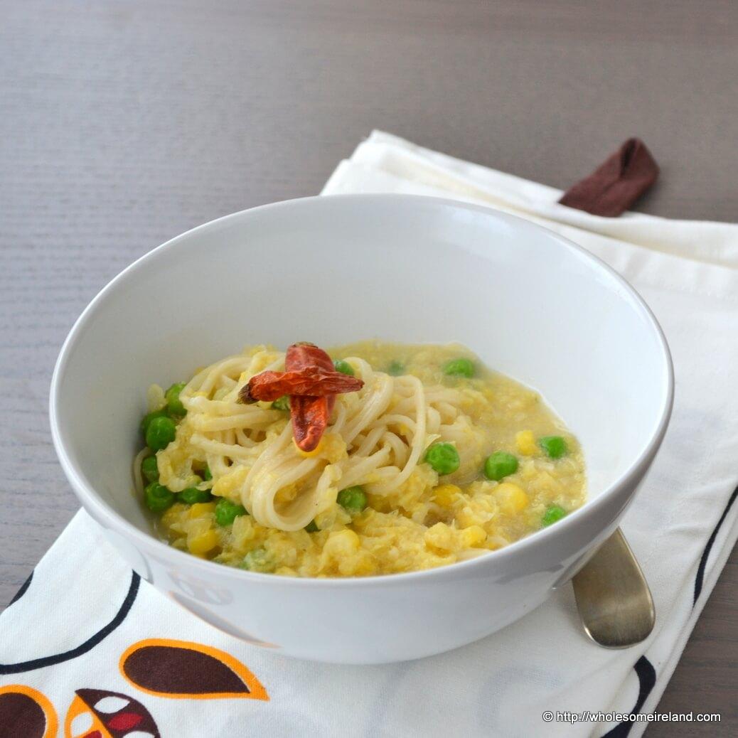 Creamed Corn Noodle Soup - Wholesome - Food & Parenting Blog