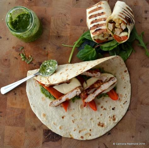 Grilled Turkey Wrap With Pesto - Caitriona Redmond - Wholesome Ireland