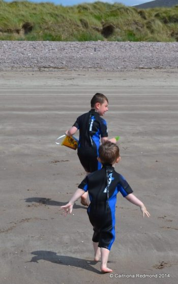 The boys on the beach on Rossbeigh Strand
