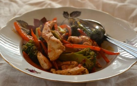 Chilli Chicken Veg Supper