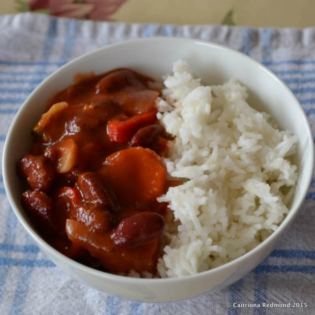 Vegetarian Bean Chilli With Rice - Wholesome Ireland