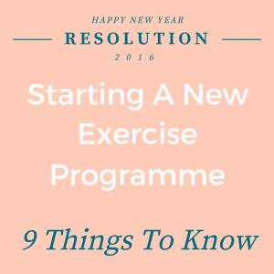 New Exercise Programme