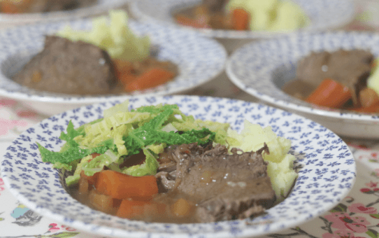 Braised Beef With Seasonal Veg